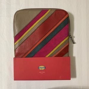 Fossil Genuine Leather IPad Tablet Case NWT